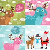 Merry Christmas greeting cards — Stock Vector