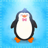 Cartoon penguin — Stock Vector