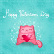 Happy Valentines card. — Stock Vector
