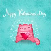 Happy Valentines card. — Stock Vector