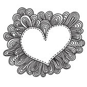 каракули сердце. — Cтоковый вектор