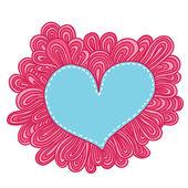 Doodle heart. — Stock Vector
