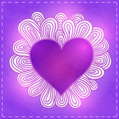 Doodle καρδιά για ημέρα του αγίου βαλεντίνου. — Διανυσματικό Αρχείο