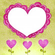 Flower background with doodle heart. — Stock Vector
