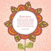 Blume Hintergrund. — Stockvektor