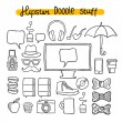 Hipster design doodle elements — Stock Vector