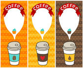 Coffee banners with bubble speech — Stock Vector