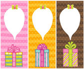 Happy Birthday present gift boxes — Vector de stock