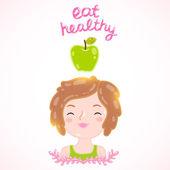 Eat healthy - poster — Stock Vector