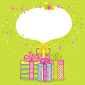 Happy Birthday present gift boxes — Cтоковый вектор