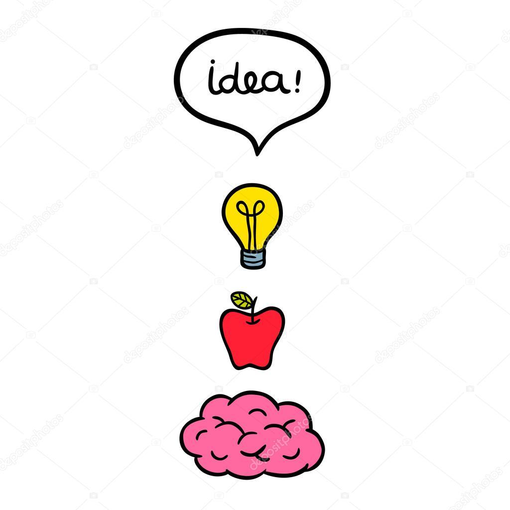 Concepto de pensamiento efectivo — vector stock