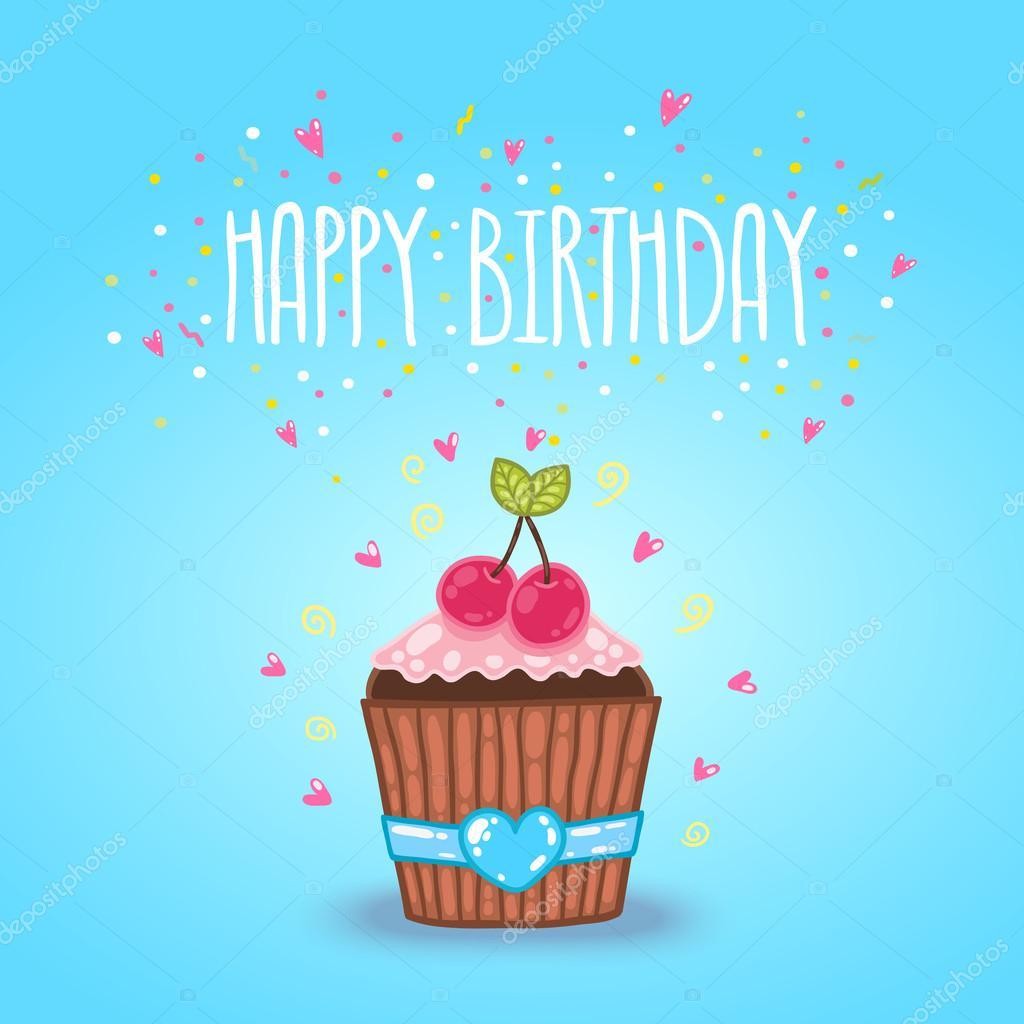 Birthday Cake Illustration Tumblr
