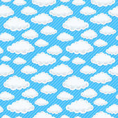 Cloud seamless pattern — Stock Vector