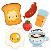 Breakfast food — Stock Vector