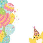 Happy Birthday postcard with bird — Stock Vector