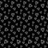 Cartoon diamond seamless pattern — Stock Vector
