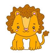 Cute cartoon baby leeuw — Stockvector