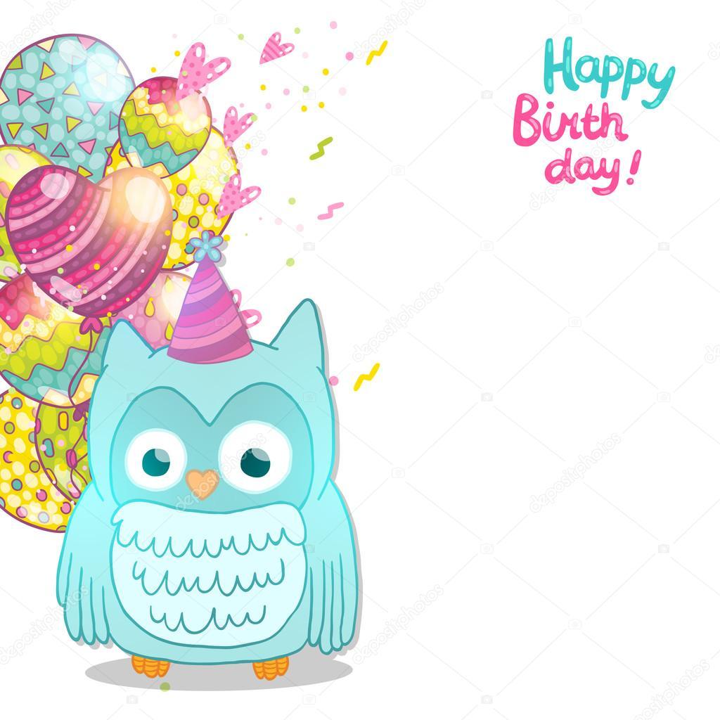 Поздравления с днем рождения картинки сова