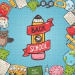 Back to school  background — Stock Vector #50066049