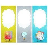 Cute cartoon school characters. — Vetor de Stock