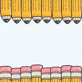 Back to school background with pencils — Stock Vector