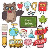 Cute school characters. — Stock Vector
