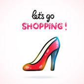 Shoe shopping card — Stock Vector