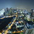 Osaka night landscape — Stock Photo