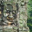 Face tower at Bayon Temple's west entrance, Cambodia — Foto Stock