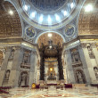 Inside the St. Peter Basilica, Vatican — 图库照片