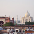 Agra town with Taj Mahal view, India — Stock Photo