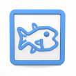 Fish icon — Stock Photo