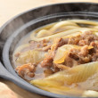 Udon noodles with beef tendon stew , Japanese food — Stock Photo