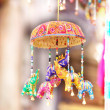 Decorative colorful elephants — Stok fotoğraf