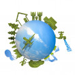 Stock Photo: Ecology world