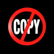 Illustration - Copy inhibit — Stock Photo