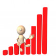 Stock Photo: Illustration - business graph