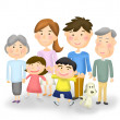Stock Photo: Illustration of family