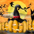 Stock Photo: Halloween illustration