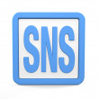 Social networking icon — Stock Photo
