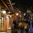 Walk in the night Kyoto — 图库照片