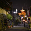 Walk in the night Kyoto — Stock Photo