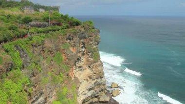 Bali. Sacred Ubud monkey forest. Mountain view. — Stock Video