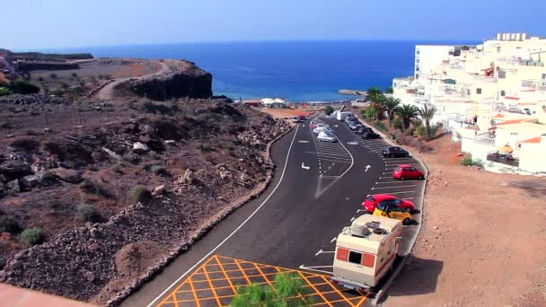 Motorhome parked in Callao Salvaje. Tenerife. — Vidéo