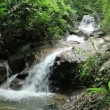 Kathu waterfall located in Kathu district in Phuket island — Stock video