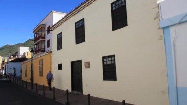 结肠圣塞巴斯蒂安 · 德拉戈梅拉岛上的故居博物馆。西班牙加那利群岛. — 图库视频影像