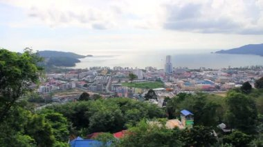 Patong Hill view point. One of the most popular tourist viewpoint in Phuket. (Thailand) — Stock Video