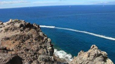 Jetskiing in south part of Tenerife island (La Caleta). — Stock Video