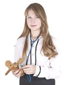Girl with stethoscope — Stock Photo
