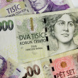 Stock Photo: Czech money
